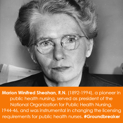 Marion Winifred Sheahan, R.N. (1892-1994), a pioneer in public health nursing, s