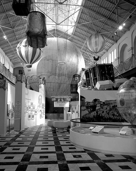 Balloon exhibit in the Arts and Industries Building.