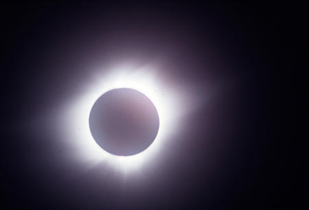 Solar eclipse, Panama, July 11, 1991.