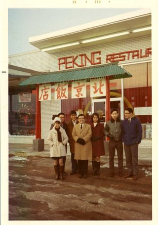 "A photo belonging to the family of Curator Cedric Yeh.  An upcoming traveling exhibition, ""Sweet and Sour: Chinese Food from Chinatown to Main Street"" needs photos of your favorite Chinese restaurant."