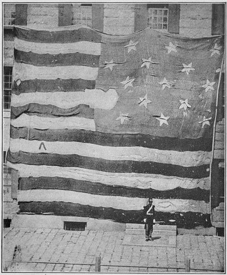 Star Spangled Banner at Boston Navy Yard, 1873.
