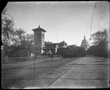 View of U.S. Capitol from northwest, Washington D.C., c. 1880s.