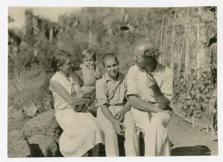 Arthur and Margarete Wittmer with their older son Harry and baby, Rolf Hans.
