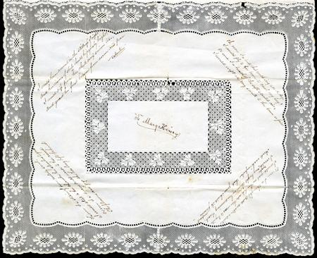 Valentine to Mary Henry, by an unidentified author, c. 1850s, document, Smithsonian Institution Arch