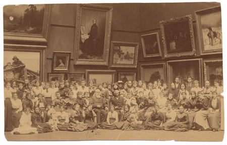 Olive Rush and Corcoran School of Art class, Unidentified photographer, c. 1890.