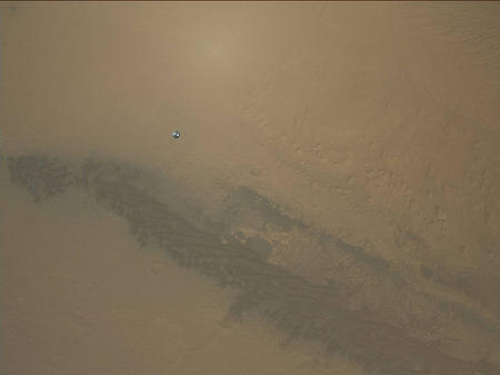 NASA's Curiosity rover landing on Mars, Photo: NASA / JPL / MSSS / Emily Lakdawa