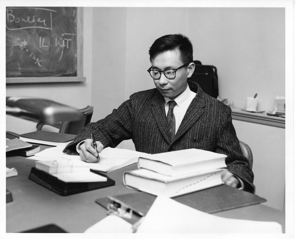 "Chinese-American astrophysicist Hong-Yee Chiu (b. 1932) is credited with coining the term ""quasar"" in 1964. Copyright: NASA, Accession 90-105 - Science Service, Records, 1920s-1970s, Smithsonian Institution Archives, Neg. no. SIA2008-0238."
