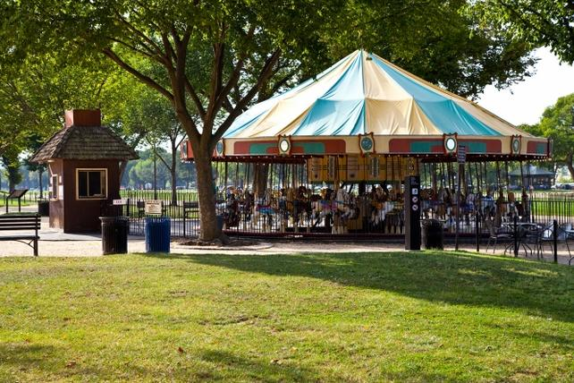Smithsonian Carousel on the National Mall, by Casey McAdams, Smithsonian Institution.