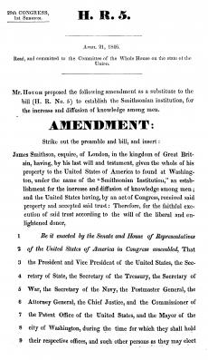 House Resolution 5 Amended, April 21, 1846, pp. 1-13, United States Congress, Courtesy of the Librar