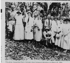 The inauguration of the Barro Colorado Island Biological Laboratory, March 29, 1924, Record Unit 95 - Photograph Collection, 1850s - , Smithsonian Institution Archives,neg. no. 95-20294.