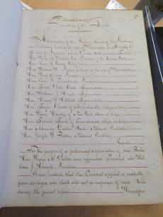 Board of Regents minutes - First Annual Meeting, by Lisa Fthenakis, 2014, Record Unit 1 - Smithsonian Institution Board of Regents, Minutes, 1846- , Smithsonian Institution Archives.