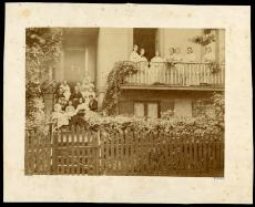 A group of young women at Spencer and Mary Churchill Baird's home at 1445 Massachusetts Avenue in Washington, c. 1870s, by Alexander Gardner, Record Unit 95 - Photograph Collection, 1850- , Smithsonian Institution Archives, Neg. No. SA259.