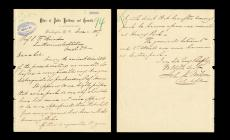 John M. Wilson to Spencer F. Baird, June 1, 1887, Record Unit 30 - Office of the Secretary, Correspondence, 1882-1890, Smithsonian Institution Archives, Neg. No. SIA2014-01878.