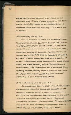 Page 8 from James Peters' 1949 field notes from Mexico.