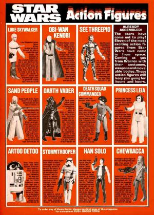 Star Wars action figures, 1978. Image via Flickr, courtesy of Tom Simpson.
