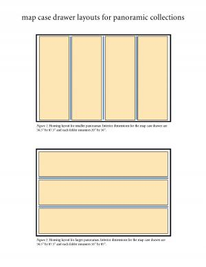 Diagram of drawer layouts for panoramic collections.