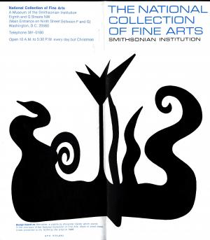 National Collection of Fine Arts brochure, circa 1970, Smithsonian Institution Archives.