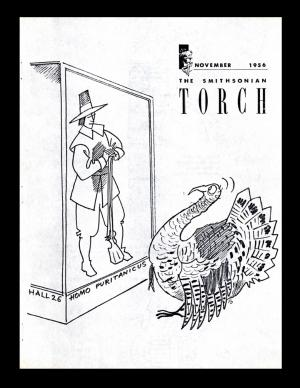 Cover - The Torch, November 1956, Record Unit 371 - Office of Public Affairs, The Torch, 1955-1960, 1965-1988, Smithsonian Institution Archives.