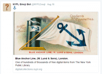 An anchor image from the NYPL Emoji Twitter bot. Image via Twitter.
