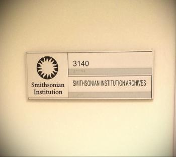 Smithsonian Institution Archives - Entry door, 2014, by JA Pryse.