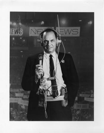 NBC news commentator Edwin Newman, 1968