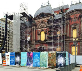 The Renwick Gallery, presently under renovation, is scheduled to reopen this coming November.