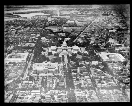 Aerial View of U.S. Capitol, c.  1917 - 1934, Boston Public Library, Image ID 08_06_008683.