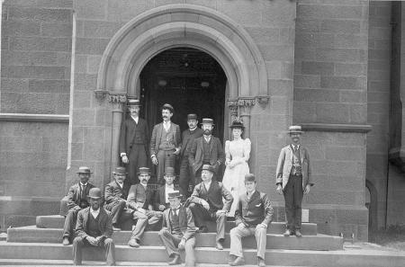 Staff of the Bureau of International Exchanges, 1891.