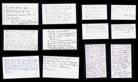 """""""Enola Gay"""" exhibition comment cards, 1995-1996, Accession 96-036 - National Air and Space Museum, Office of Public Affairs, Enola Gay Exhibition Comment Cards, 1995-1996, Smithsonian Institution Archives."""