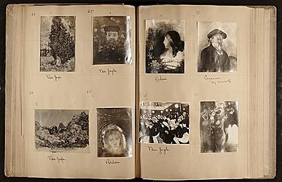 Walt Kuhn's photograph album of famous paintings, 1913, Walt Kuhn, Kuhn family papers, and Armory Sh