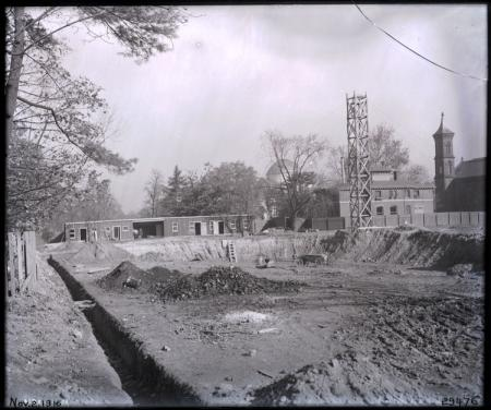 Foundation excavation for the Freer Gallery of Art