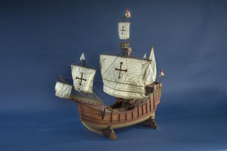 """Ship Model, """"Santa Maria,"""" 1965, Gift of Lawrence H. M. Vineburgh, Accession no. 260040, National Museum of American History."""