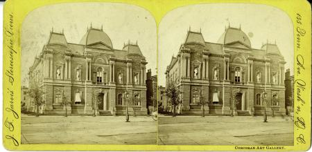 Exterior of Renwick Gallery, c. 1880s, by J.F. Jarvis, Stereoscopic View, Image ID# SIA2011-1138 or SIA2008-2350 or 95-1169.