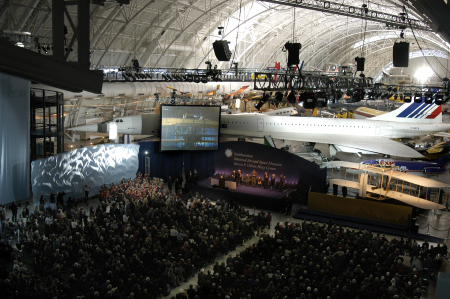 The dedication ceremony at the Steven F. Udvar-Hazy Center, 2003, by Dane Penland, National Air and