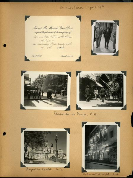 """Argentina 1939"" scrapbook - ""Buenos Aires"", April 26 - Record Unit 7293 - William M. Mann and Lucil"