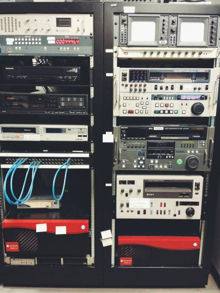 This is the AV equipment that we have here at the Archives which we make available to other units who may need it.
