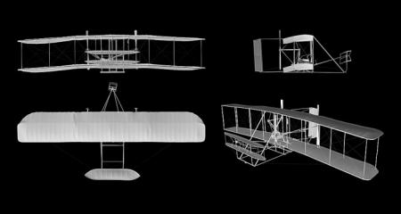 The 3-D scan of the Wright Flyer allows users to explore the fine details of the artifact, providing
