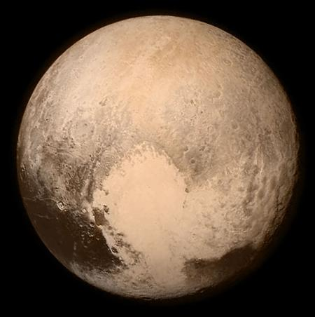 Photo of Pluto taken by NASA's New Horizons spacecraft.