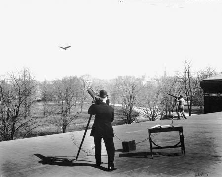Samuel P. Langley studying flight of birds, 1901, Record Unit 95: Photograph Collection, 1850s- , Sm