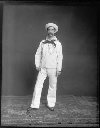 Unidentified Male in U.S. Navy Uniform, 1890s