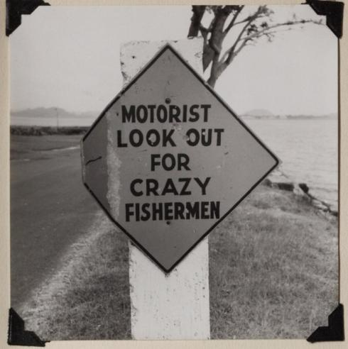A sign near Fort Amador, Panama Canal Zone, 1959.