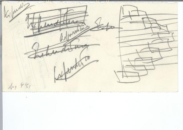 Doodles sketched by John F. Kennedy, 1961.