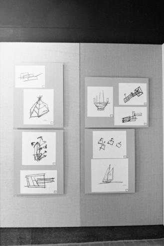 Photos of doodles sketched by John F. Kennedy.