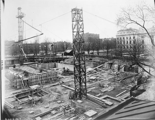 Construction of Freer Gallery of Art, 1917.