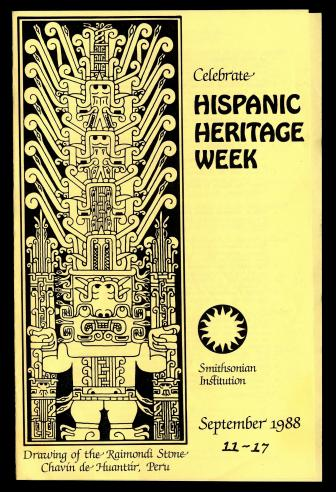 Celebrate Hispanic Heritage Week, brochure, 1988.