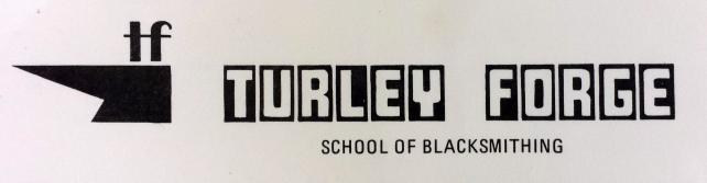 Turley Forge Blacksmithing School letterhead.