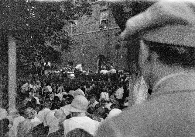 Clarence S. Darrow interrogating William Jennings Bryan, Scopes trial, Dayton, Tennessee, July 20, 1