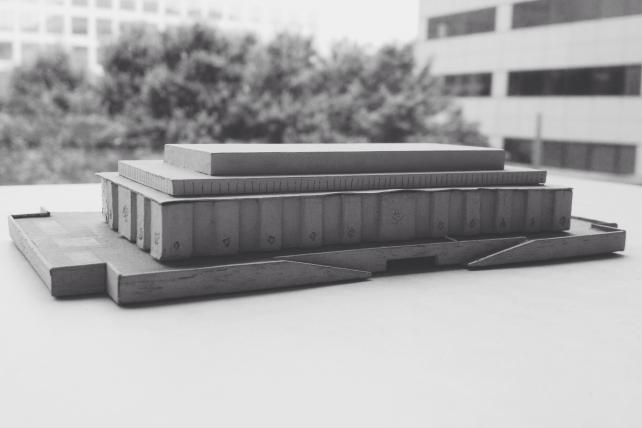 Smaller model of the National Museum of American History, 1956, Accession 99-005, Smithsonian Institution Archives.