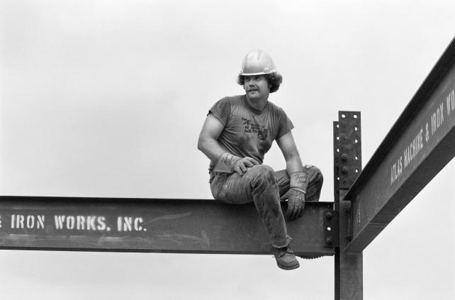 Ironworkers at 1976 Festival of American Folklife.