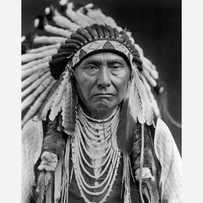 Chief Joseph, by Edward Curtis, 1903 (printed 1980), orotone, National Portrait Gallery, NPG 80.325.